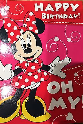 minnie mouse 2nd birthday card ; Minnie-Mouse-Birthday-Card-Open-Daughter-Granddaughter