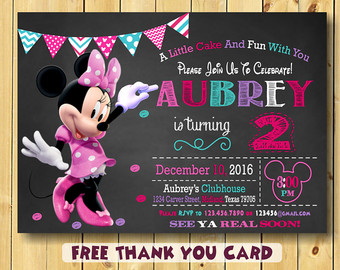 minnie mouse 2nd birthday card ; minnie-mouse-2nd-birthday-invitations-for-possessing-bewitching-Birthday-Invitation-Cards-invitation-card-design-by-a-smart-idea-9