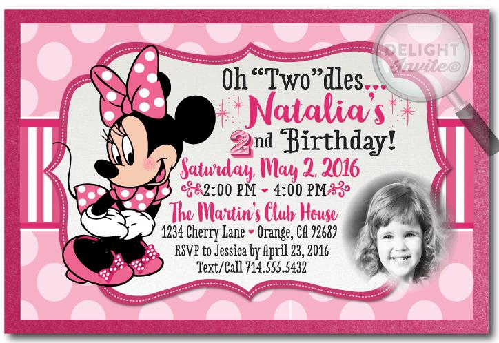 minnie mouse 2nd birthday card ; minnie_mouse_2nd_birthday_invitations