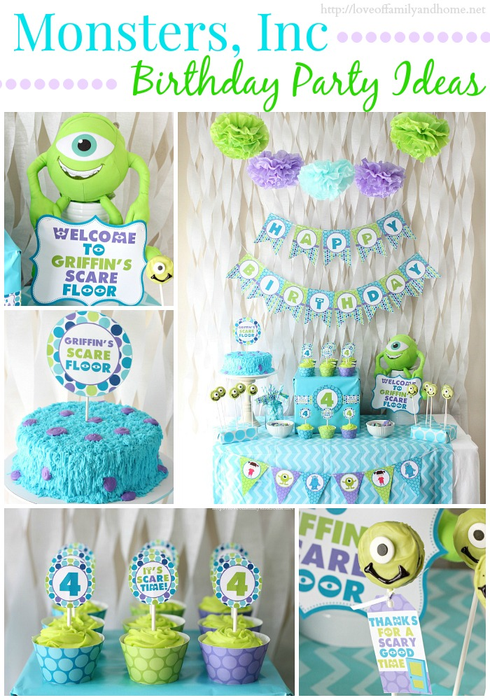 monster university birthday banner ; Monsters-Party-Collage-6