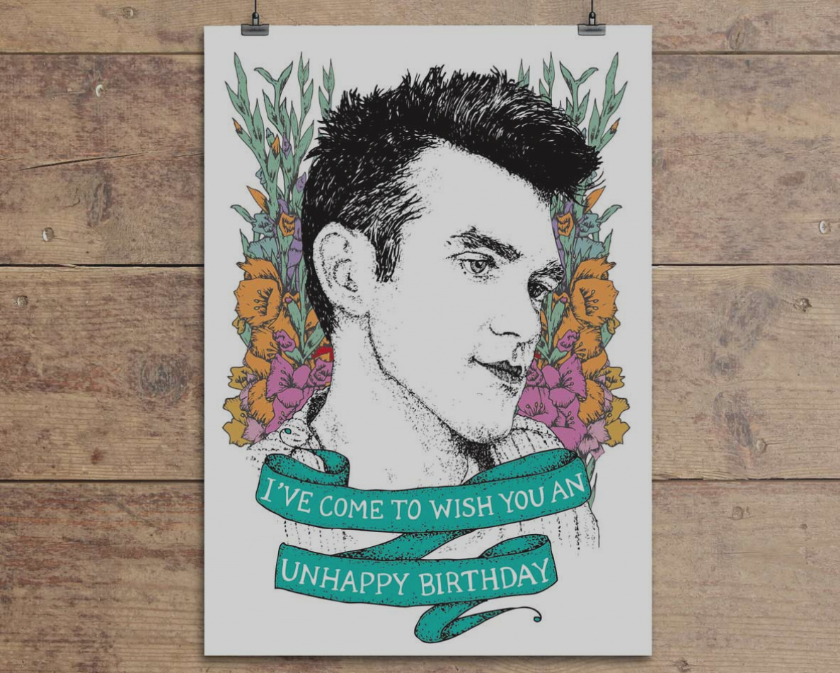 morrissey birthday card ; images-of-morrissey-birthday-card-the-smiths-blue-by