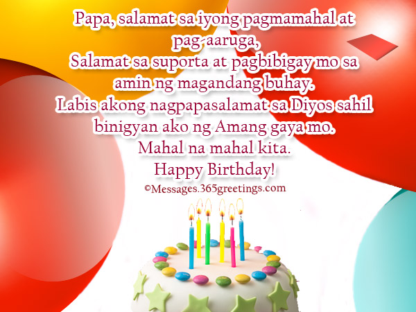 mother birthday message tagalog ; birthday-greetings-in-tagalog-for-dad