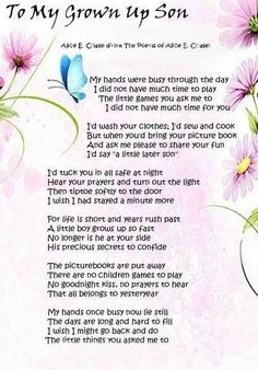 mother to son happy birthday poem ; 310e76ab9d1db9967931a5c6d46b1a21--being-a-mother-mother-son