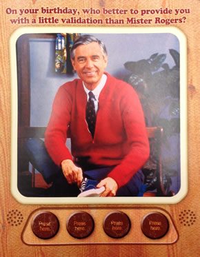 mr rogers birthday card ; 001