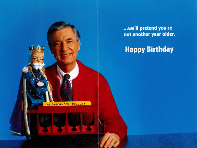 mr rogers birthday card ; 005
