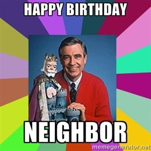 mr rogers birthday card ; 254bba1e1d416d0a12f617cb128ce33e