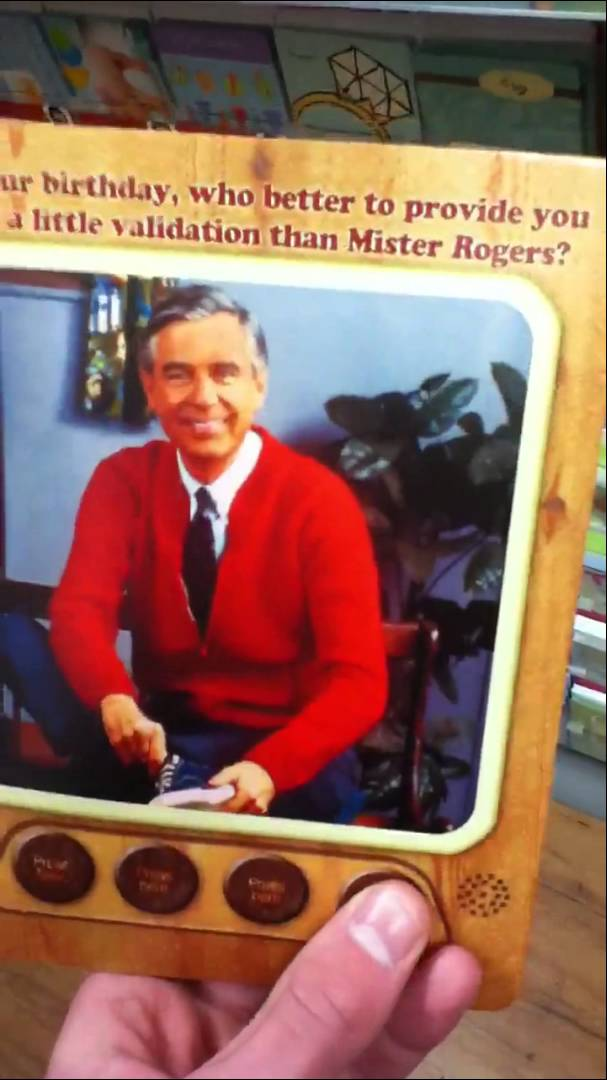 mr rogers birthday card ; maxresdefault