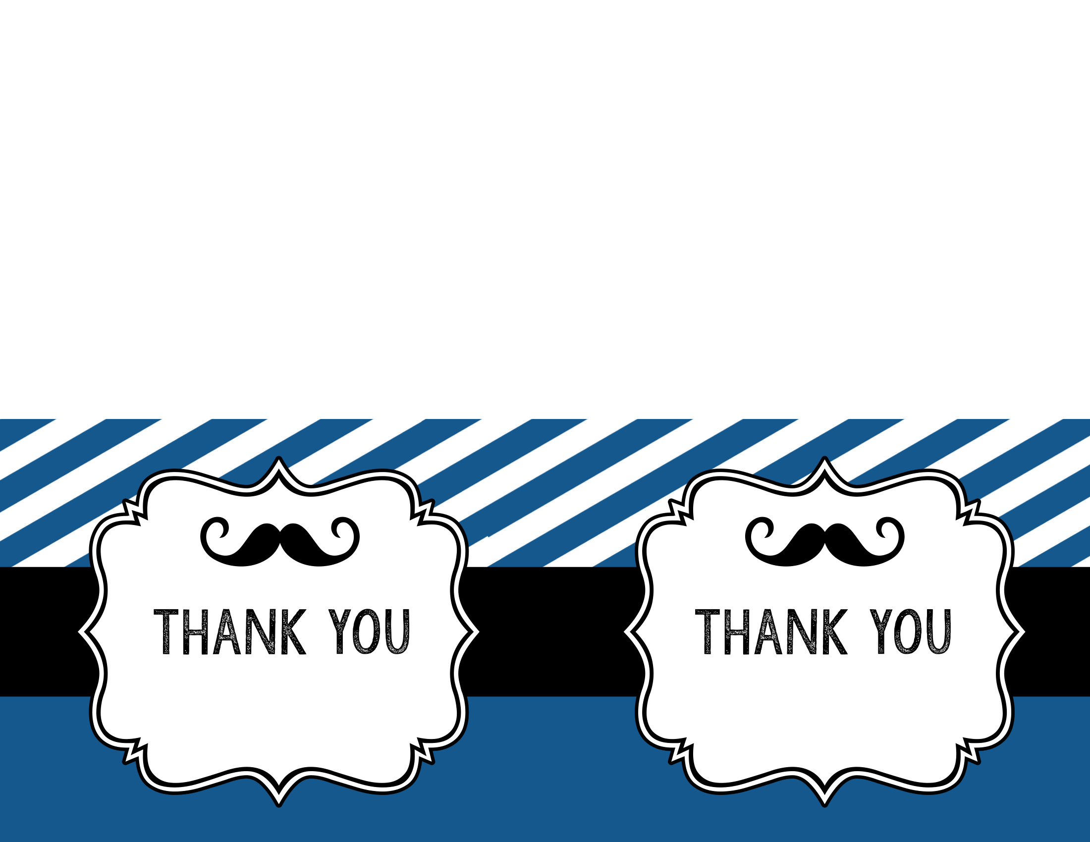 mustache birthday card printable ; mustache-thank-you-cards