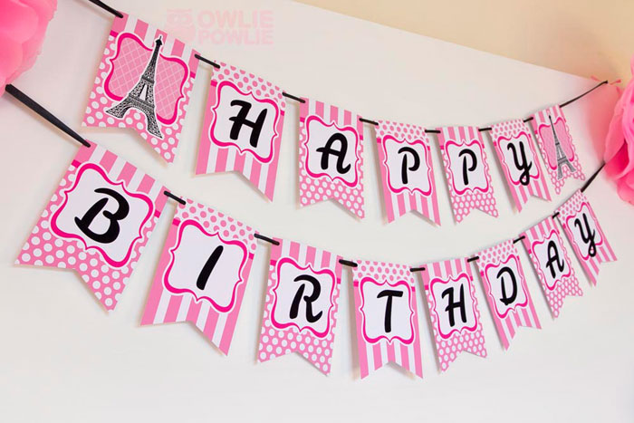 name banner for birthday party ; A9a_BIRTHDAY_PARIS_PARTY_11
