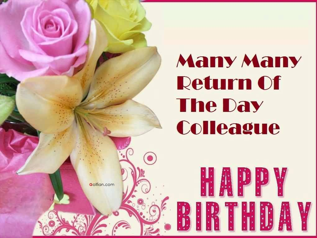 nice happy birthday wishes ; Lovely-Flower-Birthday-Wishes-For-Colleague-E-Card