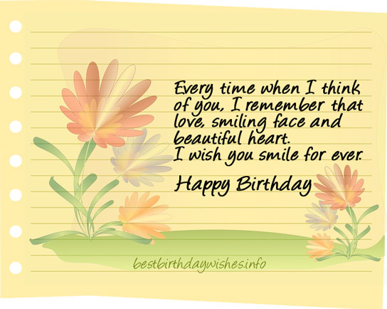 nice happy birthday wishes ; smile-birthday-wish