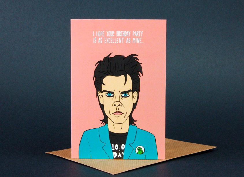 nick cave birthday card ; nick-cave-birthday-party-card