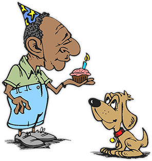 old man birthday clipart ; birthday-party