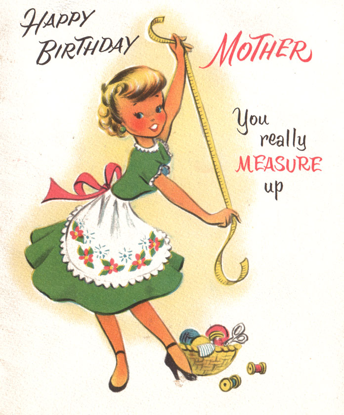 old photo birthday cards ; mombday1