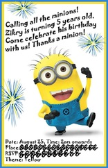 one in a minion birthday card ; 1891543157