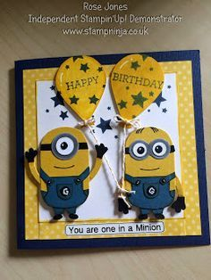one in a minion birthday card ; 34025a3daa75b0c90ddffd6cd1ce0520