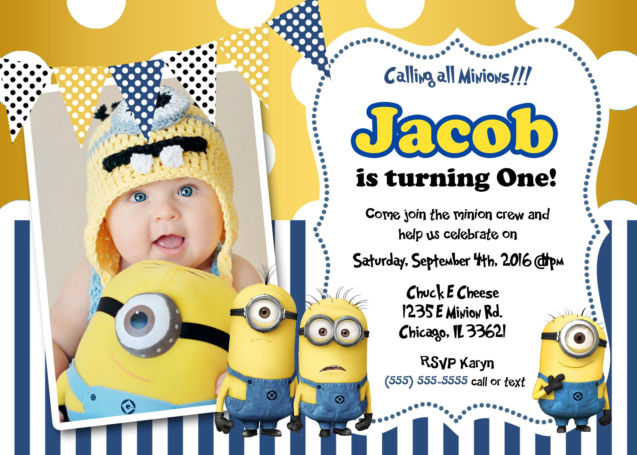 one in a minion birthday card ; 49dc1817b1624a917746c838d99d443b