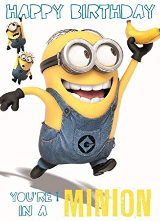 one in a minion birthday card ; 5197uQT51ZL