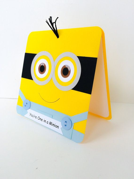 one in a minion birthday card ; 7f20bbebd8a600fce1035d63c0bd08e5