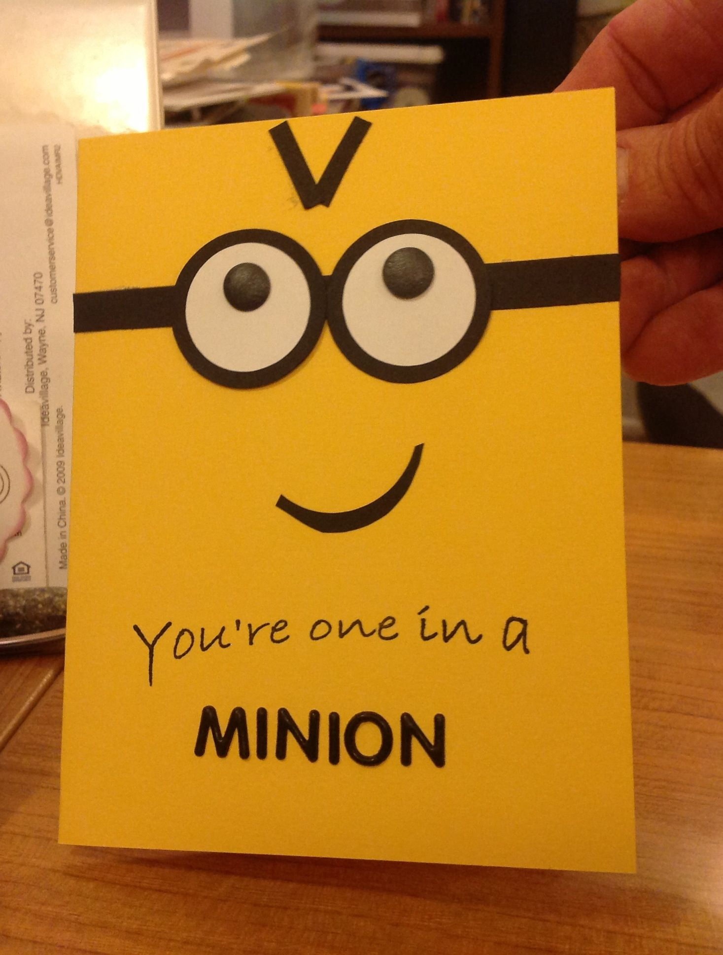 one in a minion birthday card ; 9f115288db7a954ca967a521cf12a9f6