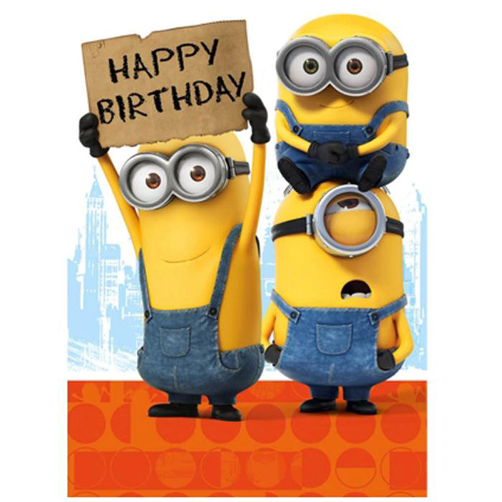 one in a minion birthday card ; MM021