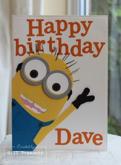 one in a minion birthday card ; b9c30a4a63fff14012fc4cd293684e17--minion-birthday-card-birthday-cards-for-dad