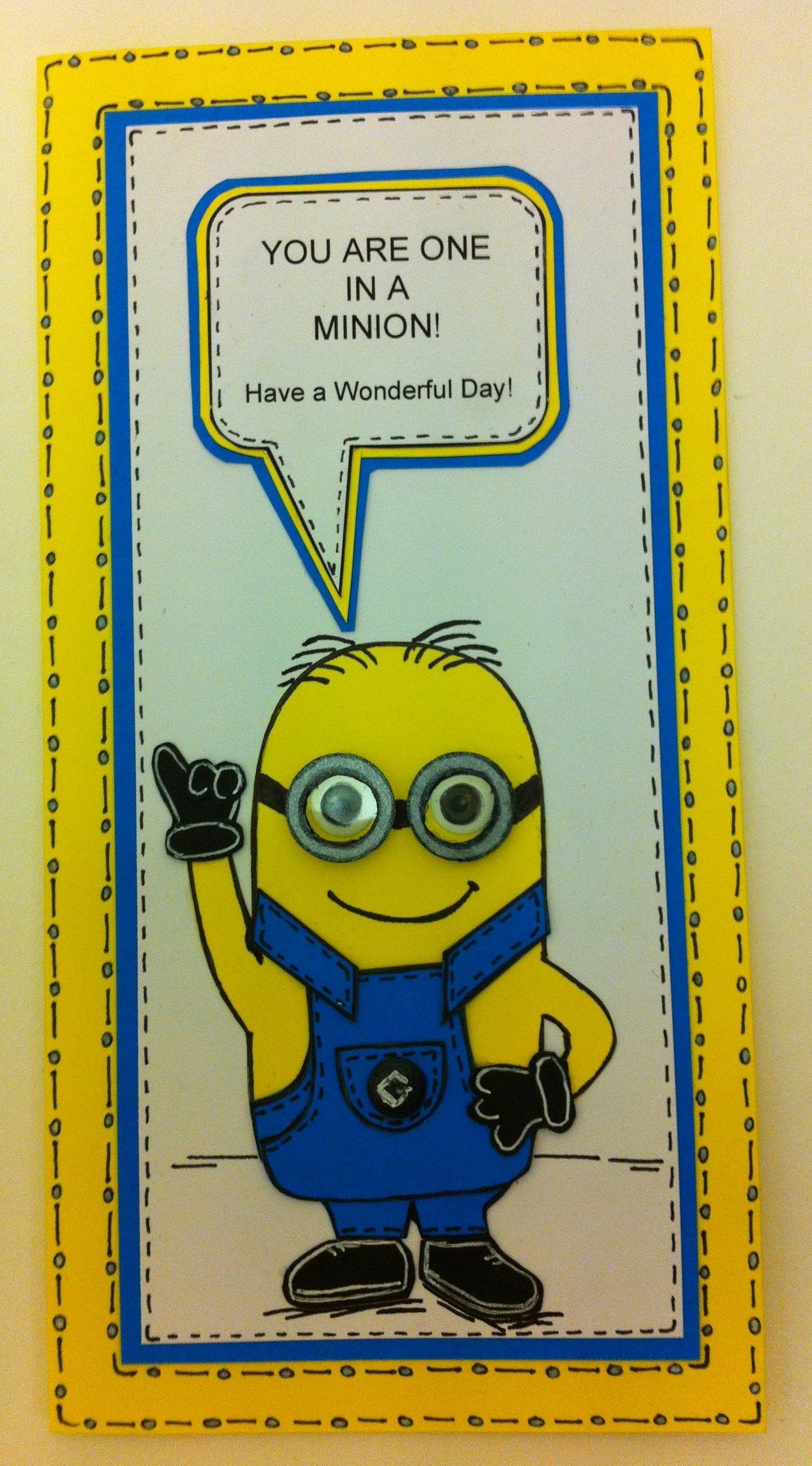 one in a minion birthday card ; c466f24e112f31f063e8c9e79ff5b297