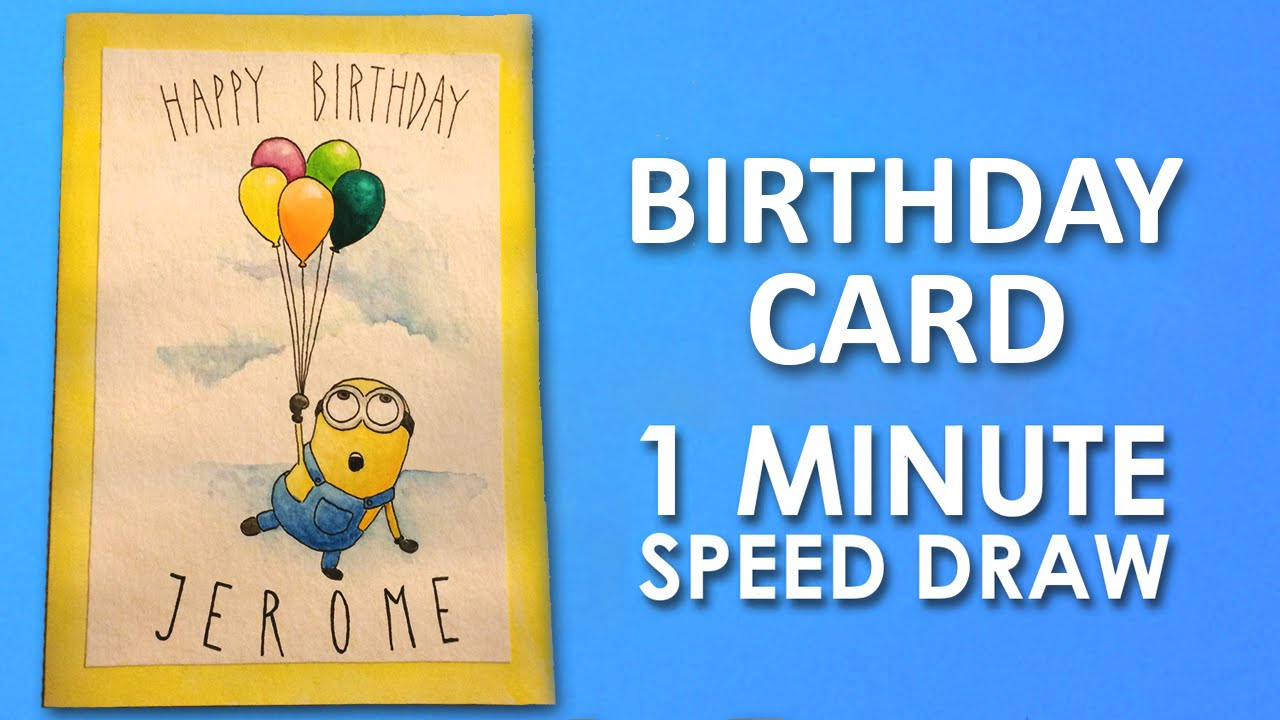 one in a minion birthday card ; maxresdefault