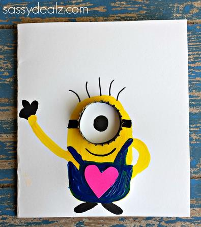 one in a minion birthday card ; one-in-a-minion-card