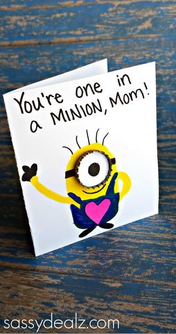 one in a minion birthday card ; youre-one-in-a-minion-card