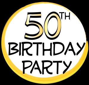 over the hill 50th birthday clip art ; 50th-birthday-party