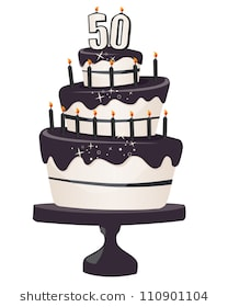over the hill 50th birthday clip art ; 50th-brithday-clip-art-cake-260nw-110901104