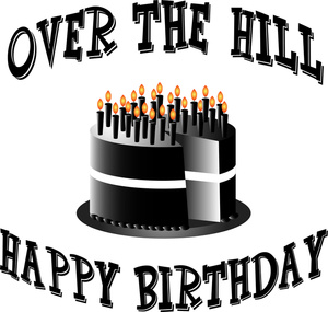 over the hill 50th birthday clip art ; clipart-hill-over-1