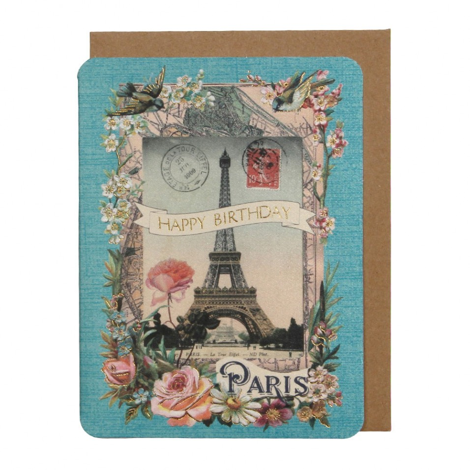 paris birthday card ; 00558346