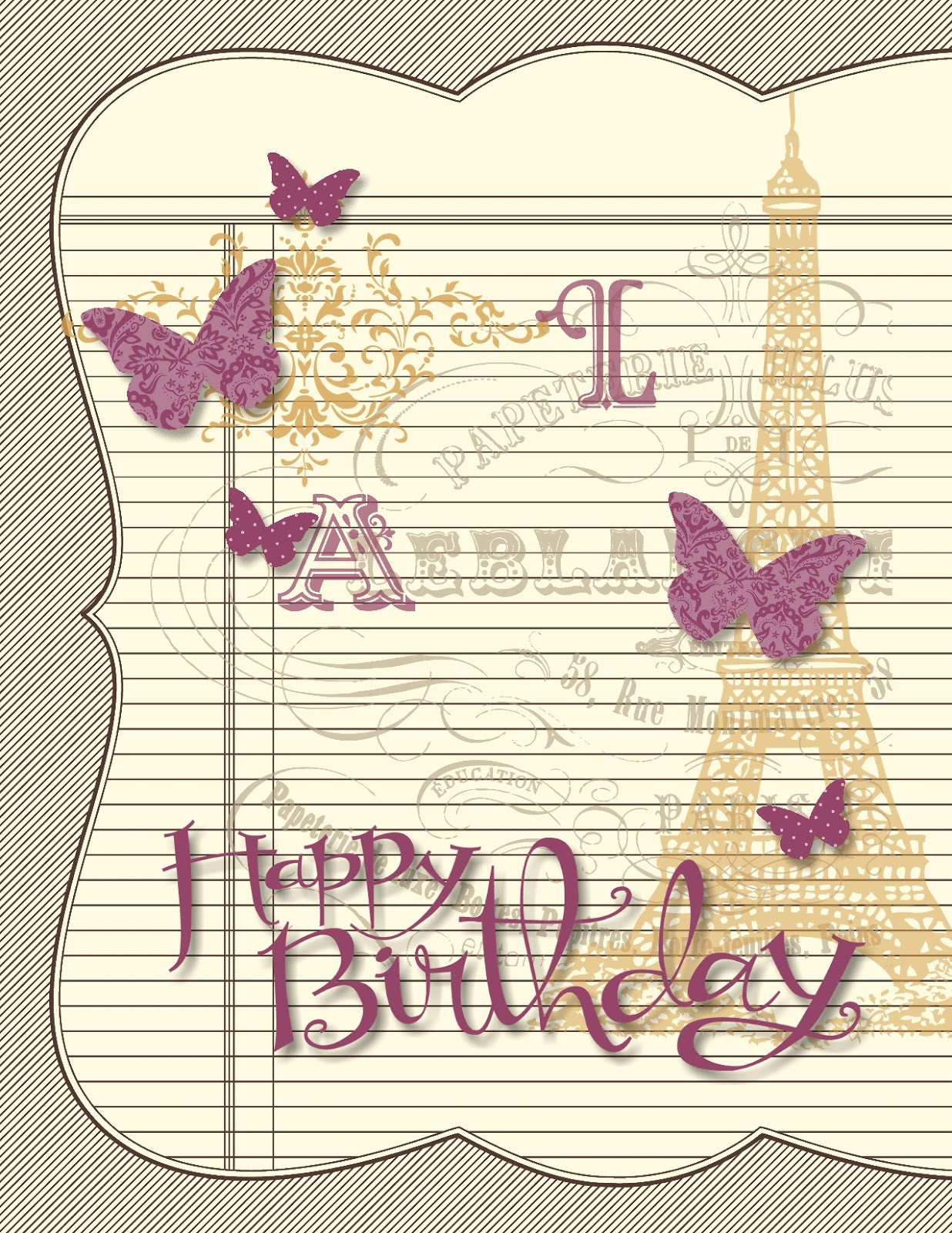 paris birthday card ; Birthday+Lesley-001