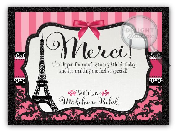 paris birthday card ; DI-685TY_PARISIAN_BIRTHDAY_THANKYOU
