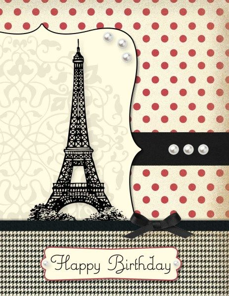paris birthday card ; b097e3d298decd8c6036940dc253e36c