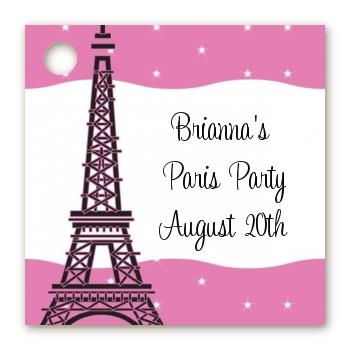 paris birthday card ; pink_poodle_in_paris_favor_tags