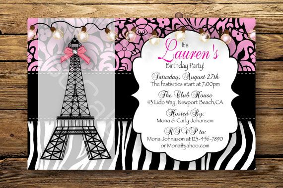 paris birthday party invitation templates ; Chic-Paris-Themed-Party-Invitations-Which-Can-Be-Used-As-Free-Printable-Party-Invitations