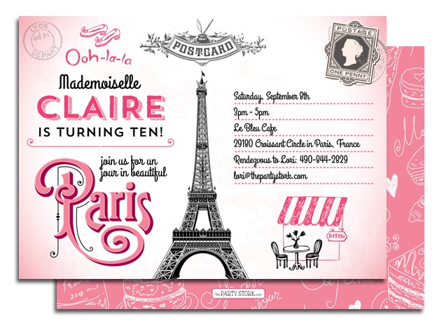paris birthday party invitation templates ; paris-themed-birthday-invitations-with-some-fantastic-invitations-using-attractive-layout-of-Birthday-Invitation-Templates-10