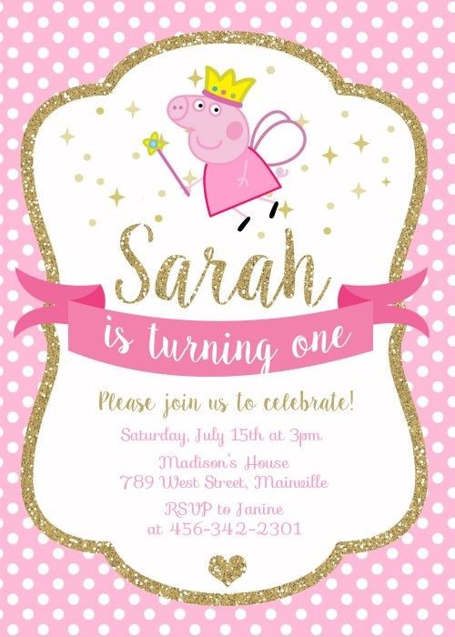 peppa pig birthday invitation template ; Captivating-Peppa-Pig-Party-Invitations-For-Additional-Party-Invitation-Template