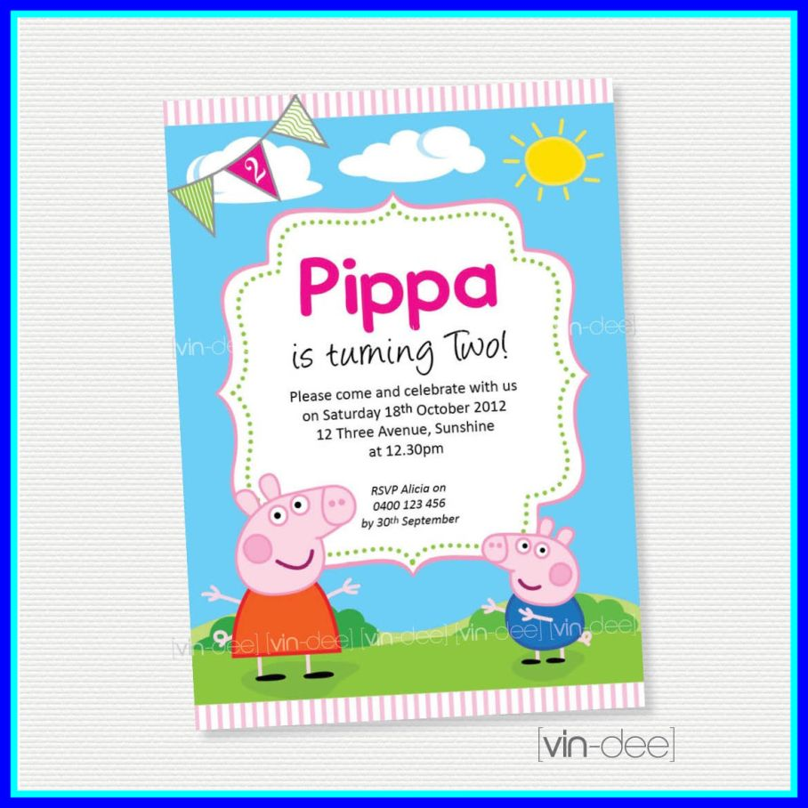 peppa pig birthday invitation template ; Incredible-Interesting-Peppa-Pig-Birthday-Invitations-Which-You-Need-To-Make-Of-House-Template-Concept-And-School-Ideas-Sample-Words-Peppa-Pig-Birthday-Invitation-Template