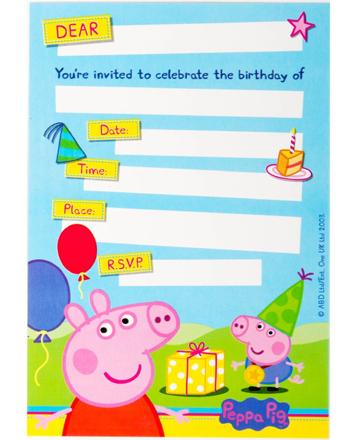 peppa pig birthday invitation template ; peppa-pig-party-invitations-with-some-fantastic-invitations-using-easy-on-the-eye-layout-of-Party-Invitation-Templates-1