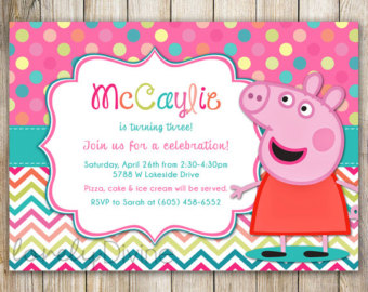 peppa pig birthday invitation template ; peppa-pig-party-invitations-with-the-combination-of-better-invitation-template-for-your-attractive-Party-Invitation-Template-41