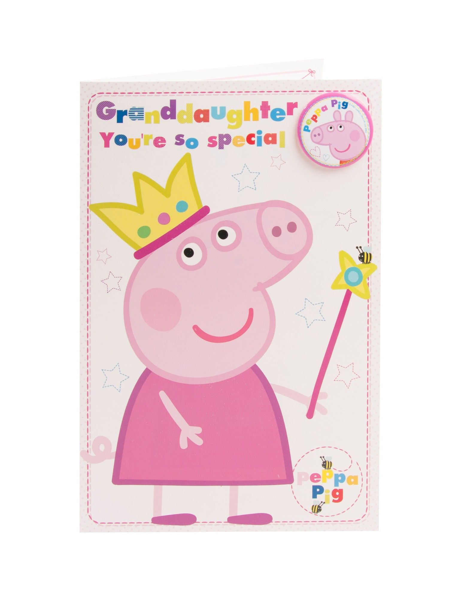 peppa pig granddaughter 2nd birthday card ; 6f45a9584ca2fd53ab8fa9216cbce9e0