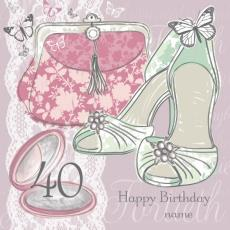 personalised 40th birthday card for daughter ; 09111pc_1
