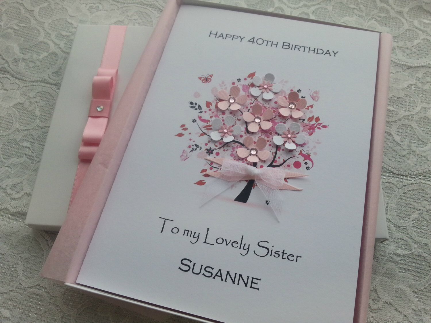personalised 40th birthday card for daughter ; 9a0f4688ea1863d7e834a21a8519671e