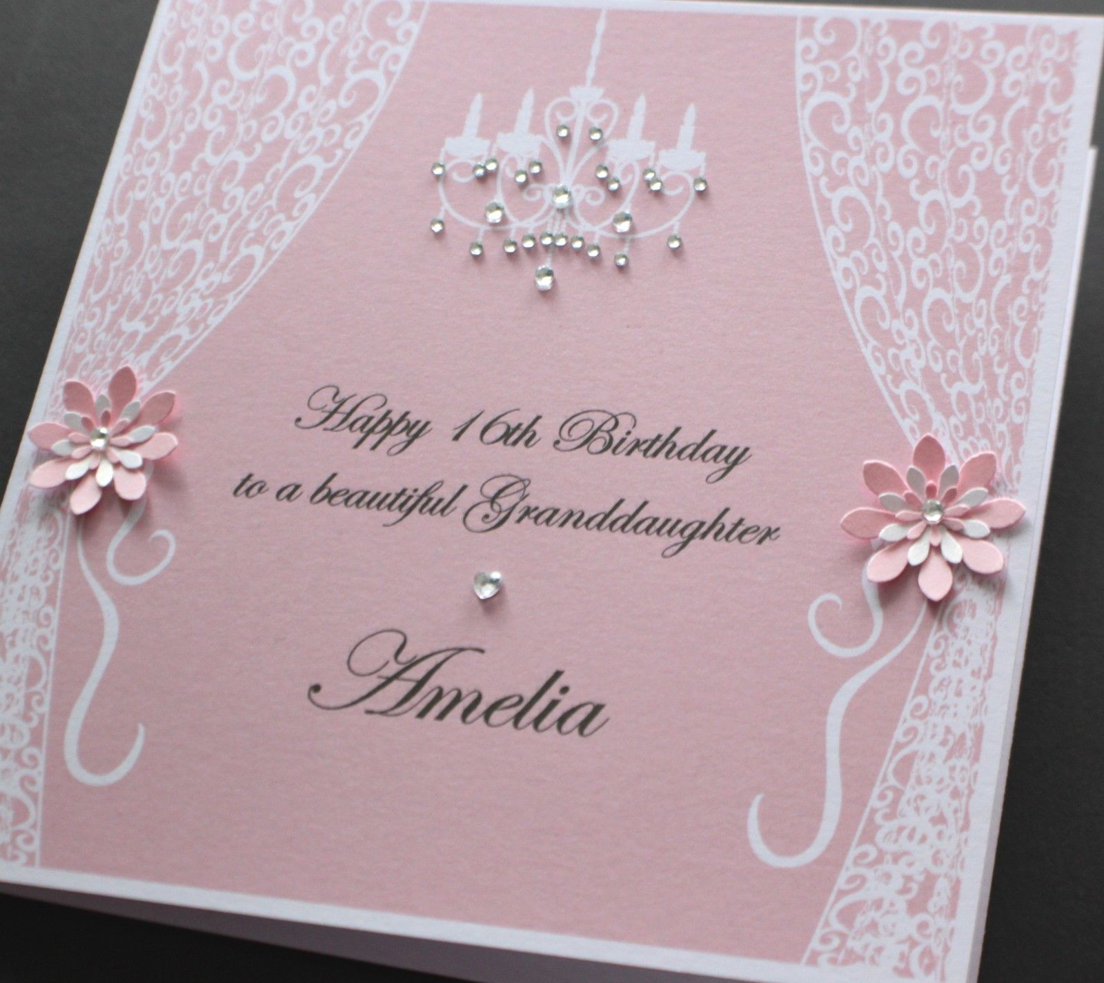 personalised 40th birthday card for daughter ; Handmade-Personalised-VINTAGE-STYLE-Birthday-card-many-colours-daughter-mum_4