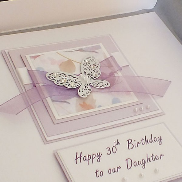 personalised 40th birthday card for daughter ; Lilac-butt0lge-600x600