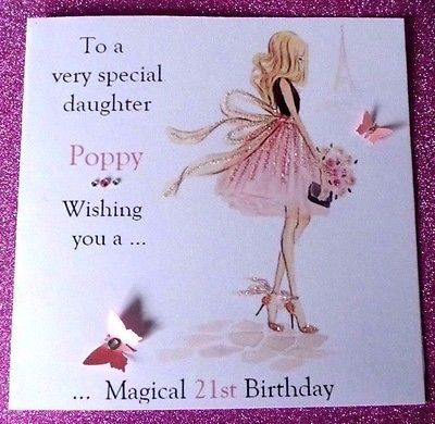 personalised 40th birthday card for daughter ; PERSONALISED-HANDMADE-BIRTHDAY-CARD-18TH-21ST-40th-DAUGHTER